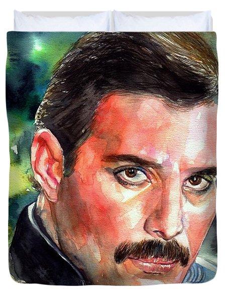 Freddie Mercury Portrait Duvet Cover