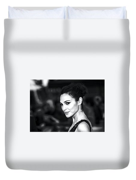 Gal Gadot Print Duvet Cover by Best Actors