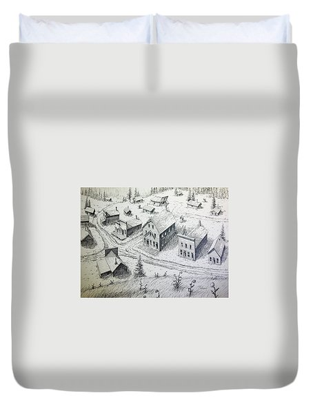 Garnet Ghost Town Montana Duvet Cover by Kevin Heaney