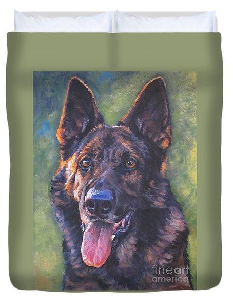 German Shepherd Duvet Cover by Lee Ann Shepard