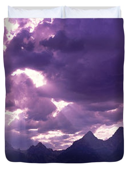 Grand Teton Park, Wyoming, Usa Duvet Cover