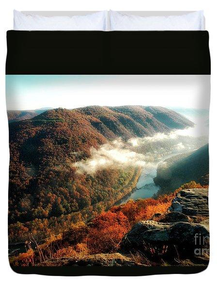 Grandview New River Gorge Duvet Cover