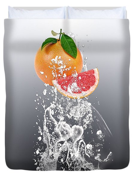 Grapefruit Splash Duvet Cover