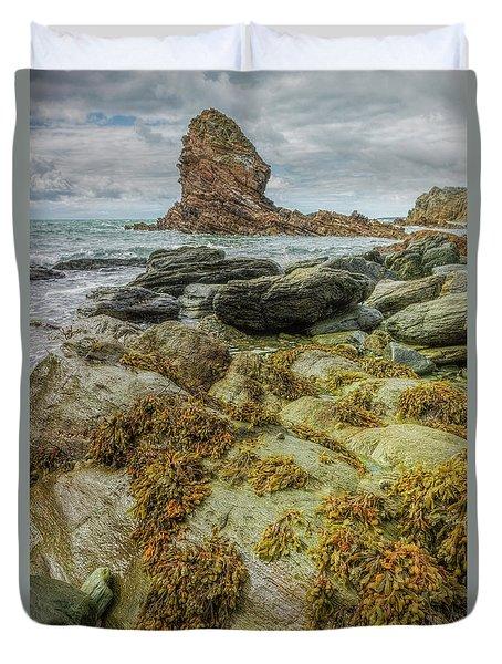 Duvet Cover featuring the photograph Gwenfaens Pillar by Ian Mitchell