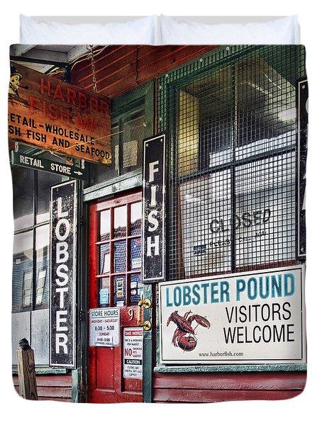 Harbor Fish Mkt Duvet Cover
