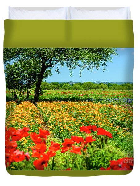 Hill Country In Bloom Duvet Cover