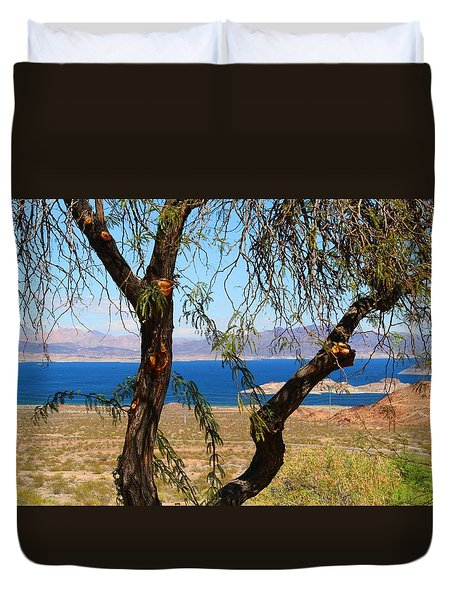 Hoover Dam Visitor Center Duvet Cover