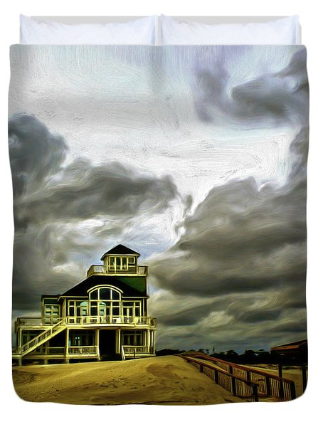 House At The End Of The Road Duvet Cover by Gordon Engebretson