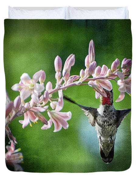 Hummingbird  Duvet Cover by Saija  Lehtonen