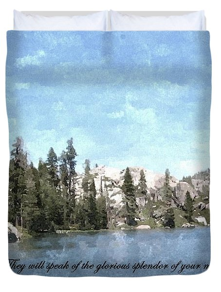 Inspirations 1 Duvet Cover by Sara  Raber