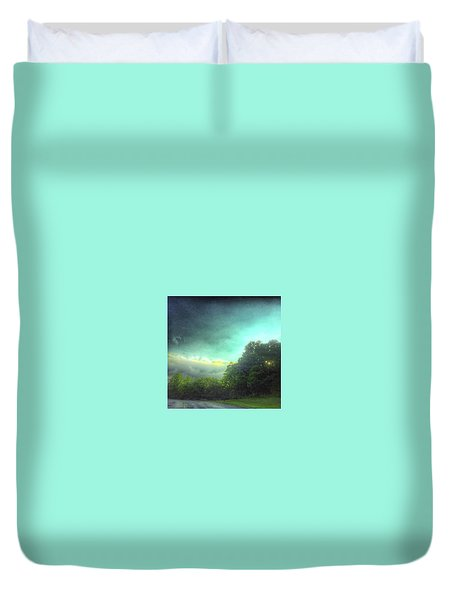 Duvet Cover featuring the photograph 3 June 16 by Toni Martsoukos