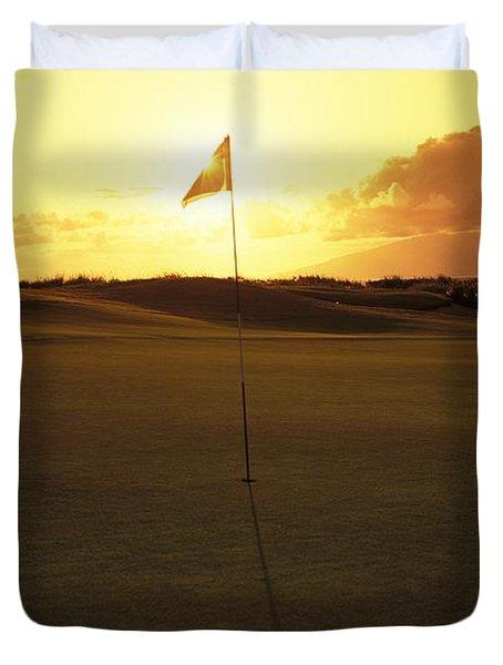 Kapalua Golf Club Duvet Cover by Carl Shaneff - Printscapes