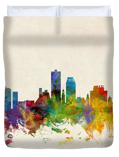 Knoxville Tennessee Skyline Duvet Cover