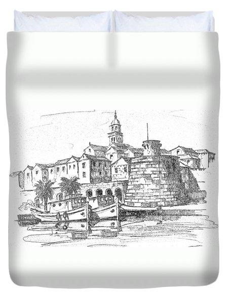 Korcula Croatia Duvet Cover