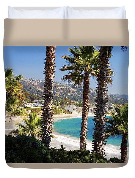 Laguna Beach California Coast Duvet Cover