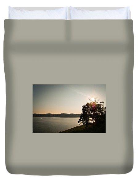 Lake Cumberland Sunset Duvet Cover