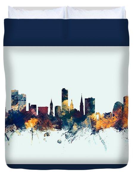 Leicester England Skyline Duvet Cover