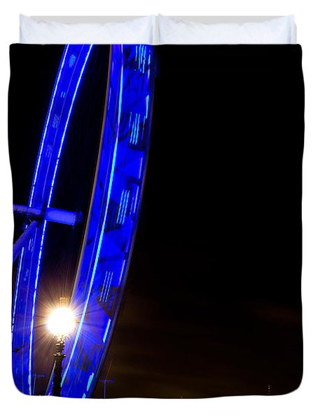 London Eye Night View Duvet Cover
