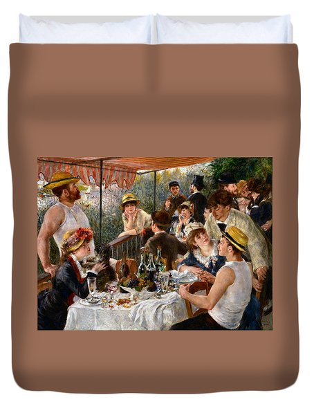 Luncheon Of The Boating Party Duvet Cover