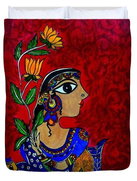 The Beauty Of The Village Girl Duvet Cover