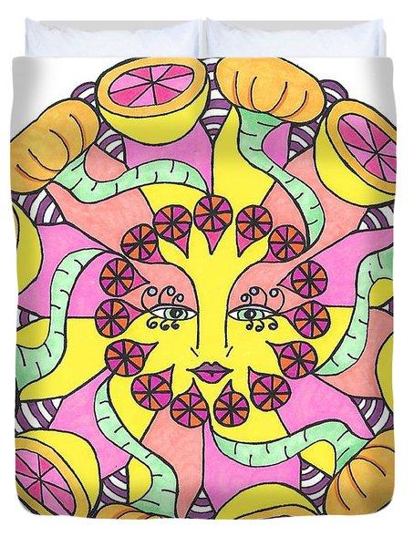 Fruit Face Duvet Cover
