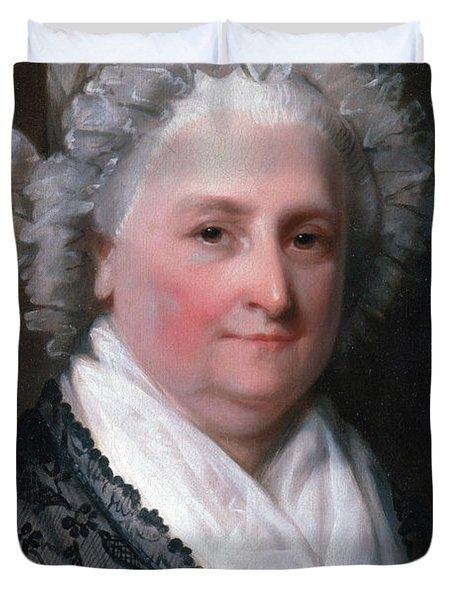 Martha Washington, American Patriot Duvet Cover by Photo Researchers