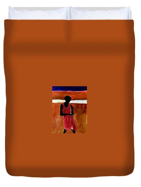 Masaai Boy Duvet Cover