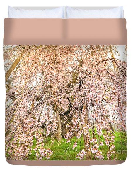 Duvet Cover featuring the photograph Miharu Takizakura Weeping Cherry04 by Tatsuya Atarashi