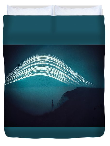 3 Month Exposure At Beachy Head Lighthouse Duvet Cover