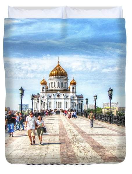Moscow Russia Duvet Cover