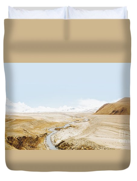 Duvet Cover featuring the photograph Mount Everest by Setsiri Silapasuwanchai