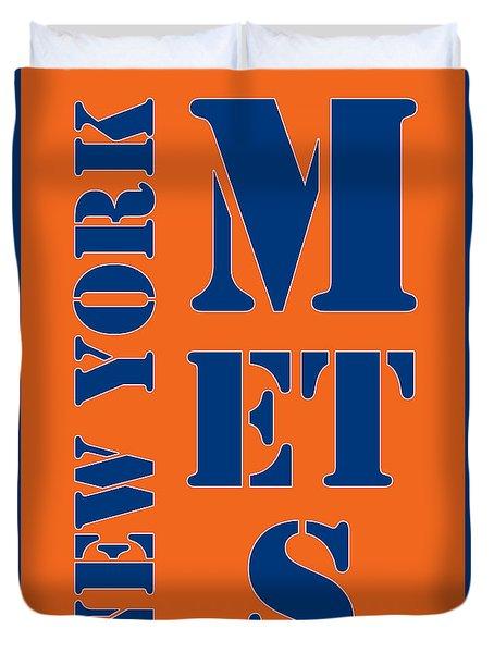 New York Mets Typography Duvet Cover