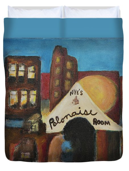 Duvet Cover featuring the painting Nye's Polonaise Room by Susan Stone