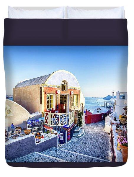 Oia, Santorini - Greece Duvet Cover