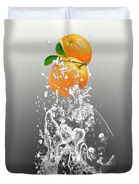Orange Splash Duvet Cover