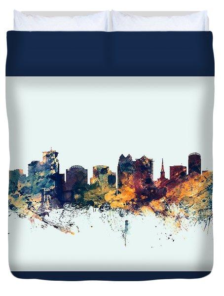 Orlando Florida Skyline Duvet Cover