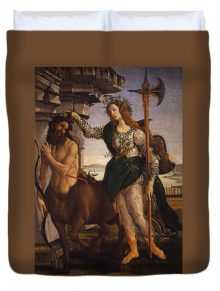 Pallas And The Centaur Duvet Cover