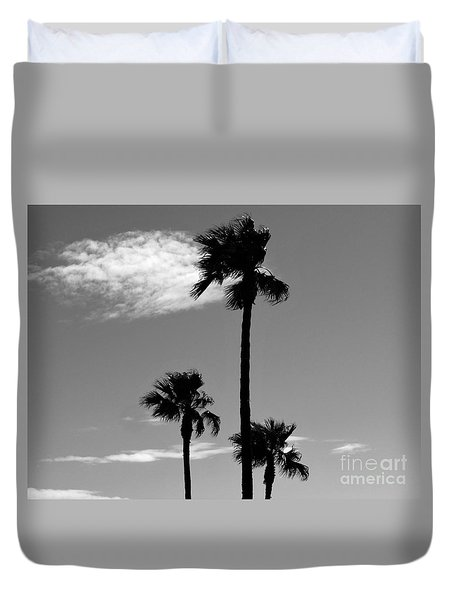 3 Palms Duvet Cover by Janice Westerberg