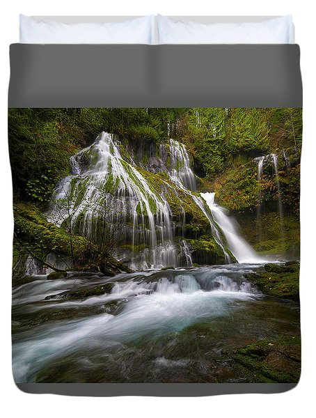 Panther Creek Falls Duvet Cover by David Gn