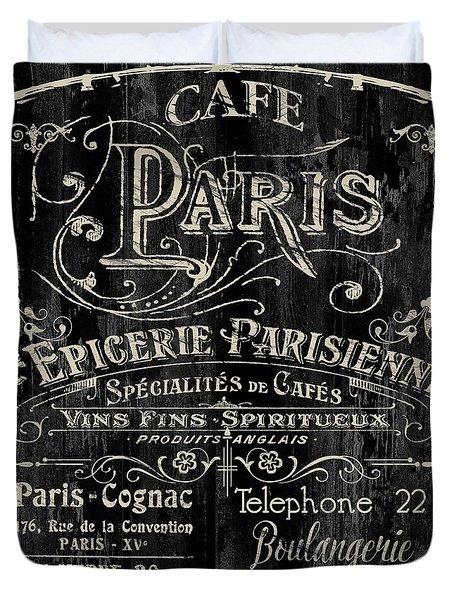 Paris Bistro Duvet Cover