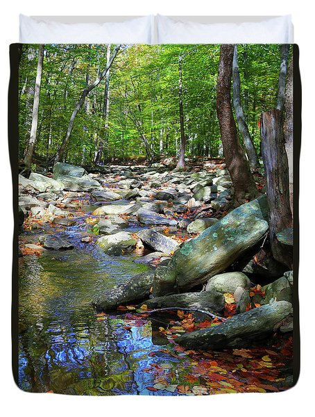 Duvet Cover featuring the photograph Peace by Mitch Cat