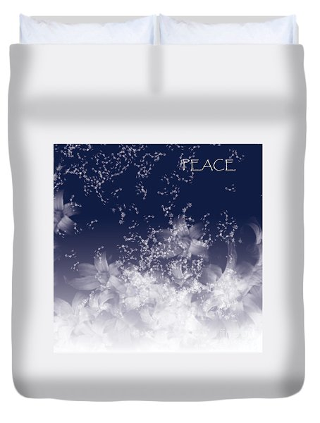 Duvet Cover featuring the digital art Peace by Trilby Cole