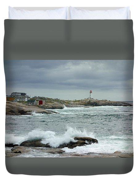 Peggy's Cove, Nova Scotia, Canada Duvet Cover