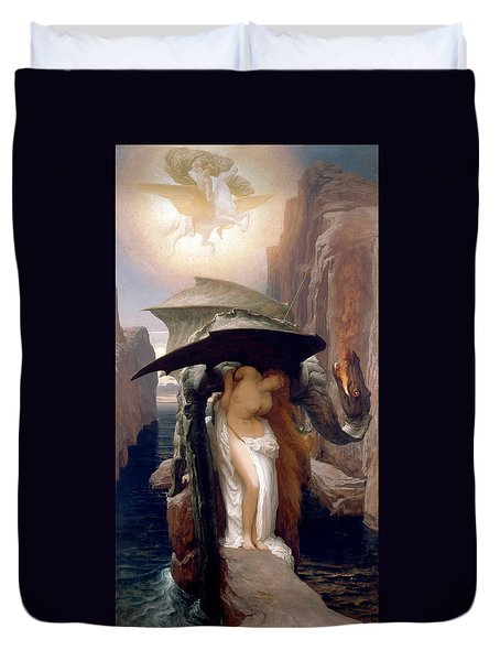 Perseus And Andromeda Duvet Cover by Frederic Leighton