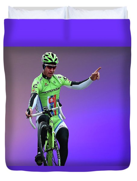Peter Sagan 11 Duvet Cover
