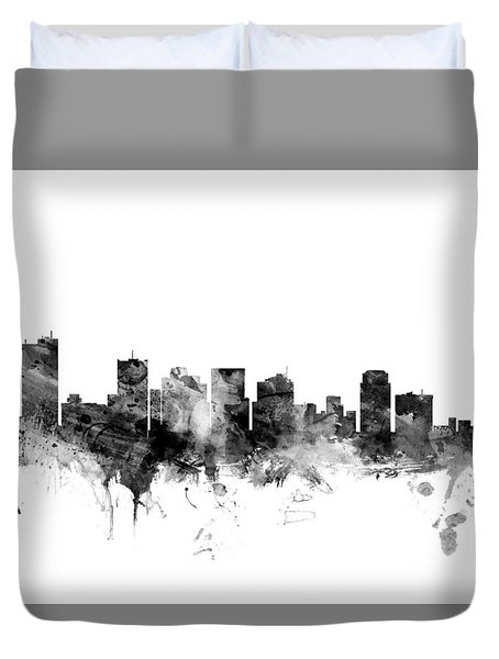 Phoenix Arizona Skyline Duvet Cover by Michael Tompsett