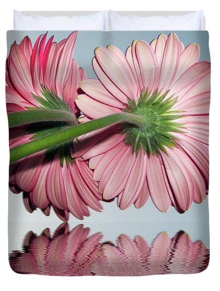 Pink Gerbers Duvet Cover