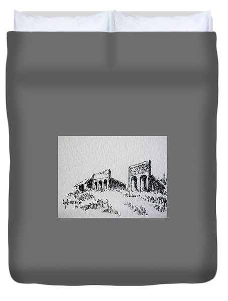 Pioneer Ghost Town Montana Duvet Cover by Kevin Heaney