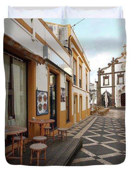 Ponta Delgada - Azores Duvet Cover by Gaspar Avila