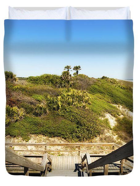 Ponte Vedra Beach Duvet Cover by Raul Rodriguez
